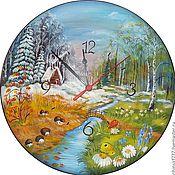 Для дома и интерьера handmade. Livemaster - original item Watch from Siberian cedar seasons. Handmade.