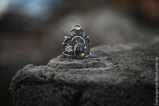 Кольца ручной работы. Ярмарка Мастеров - ручная работа. Купить Кольцо Бельтайн. Handmade. Бельтайн, хризолит, серебро