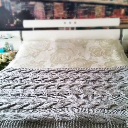 """Текстиль, ковры ручной работы. Ярмарка Мастеров - ручная работа. Купить Плед-бортик вязаный """"Big Sweet """". Handmade."""