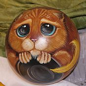 Сувениры и подарки handmade. Livemaster - original item Ball the roly-poly puss in boots from Shrek cartoon. Handmade.
