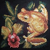 Картины и панно handmade. Livemaster - original item gold frog. Handmade.