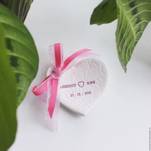 Свадебные аксессуары ручной работы. Ярмарка Мастеров - ручная работа. Купить Тарелочка для колец сердце. Handmade. Розовый, тарелочка для загса