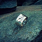 Кольца ручной работы. Ярмарка Мастеров - ручная работа Кольцо Лесное из нейзильбера кольцо женское обручальное широкое кольцо. Handmade.