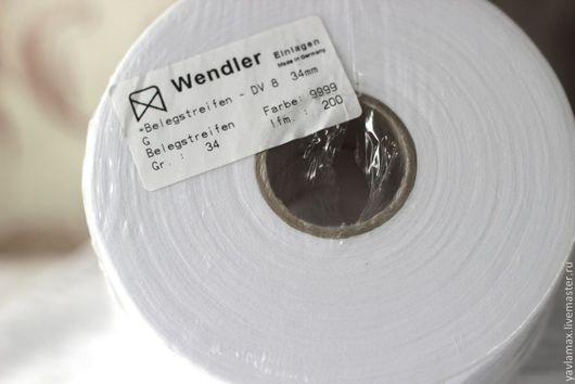 Шитье ручной работы. Ярмарка Мастеров - ручная работа. Купить Клеевая лента Wendler. Handmade. Белый, дублерин клеевой
