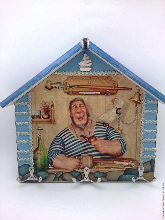 """Прихожая ручной работы. Ярмарка Мастеров - ручная работа. Купить Ключница  """"Морская душа"""". Handmade. Голубой, МДФ 6мм"""