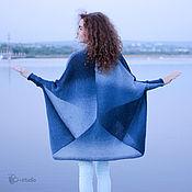 Одежда ручной работы. Ярмарка Мастеров - ручная работа Чайка Вязаное пальто из кауни цвета ривер. Handmade.