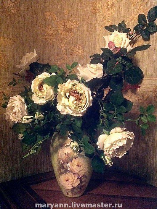 """Vases handmade. Livemaster - handmade. Buy Vase """"Vintage Rose"""".Vase, roses, decoupage, paper"""