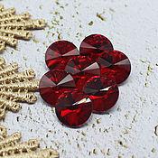 Материалы для творчества handmade. Livemaster - original item 12 mm Rivoli Siam glass rhinestones. Handmade.