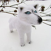 """Куклы и игрушки ручной работы. Ярмарка Мастеров - ручная работа Войлочная игрушка """"Белый Волк"""". Handmade."""