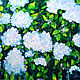 Картины цветов ручной работы. Ярмарка Мастеров - ручная работа. Купить Цветущая Гортензия. Handmade. Бледно-сиреневый, ситий