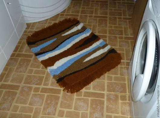Ванная комната ручной работы. Ярмарка Мастеров - ручная работа. Купить коврик. Handmade. Ванная комната, вязаный коврик, полушерсть