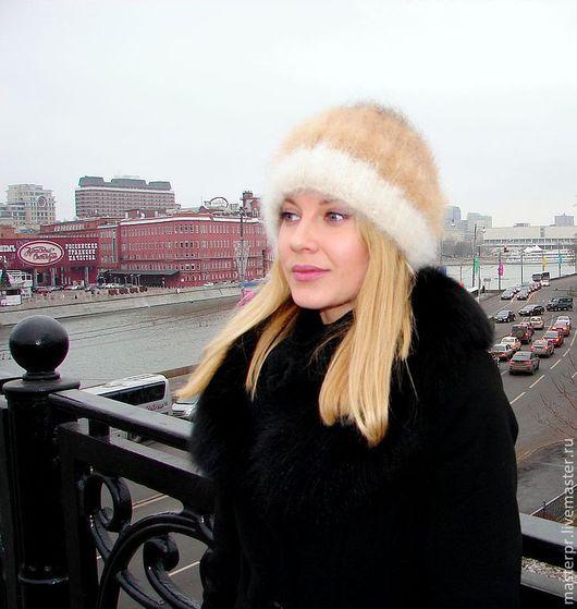 Шапка женская зимняя «Теплое Обаяние»\r\n100% собачий пух\r\nРучное прядение\r\nРучное вязание