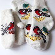 Варежки ручной работы. Ярмарка Мастеров - ручная работа Набор варежки+носочки. Handmade.