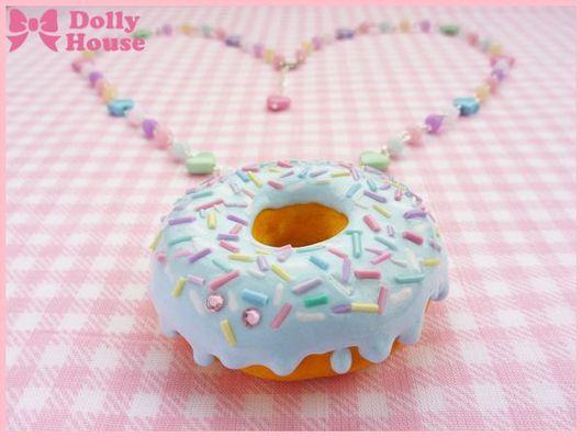 """Колье, бусы ручной работы. Ярмарка Мастеров - ручная работа. Купить Колье """"Pastel Donut"""". Handmade. Dolly house"""