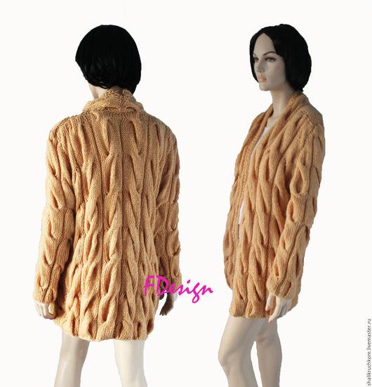 Кофты и свитера ручной работы. Ярмарка Мастеров - ручная работа. Купить Вязаный кардиган в стиле шарпей ручной работы. Handmade.