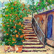 Pictures handmade. Livemaster - original item Oil painting on canvas. Province of France in bloom. Handmade.