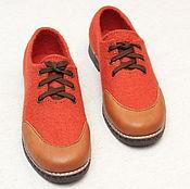 """Обувь ручной работы. Ярмарка Мастеров - ручная работа Туфли валяные женские """"Лондон"""". По мотивам. Handmade."""