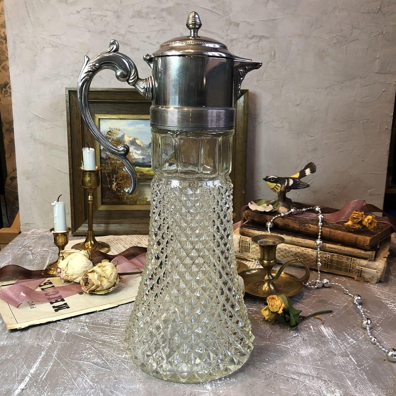 Шикарный антикварный декантер для вина.  34 см. Англия (?), Графины, Москва,  Фото №1