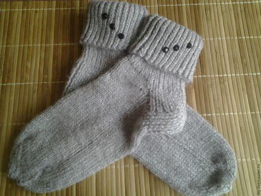 Носки, Чулки ручной работы. Ярмарка Мастеров - ручная работа. Купить носочки женские. Handmade. Серый, шерстяные носки