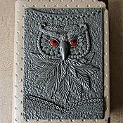 Notebooks handmade. Livemaster - original item Notepad Owl handmade.Notepad from scratch. decor polymer clay. Handmade.