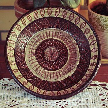 Посуда ручной работы. Ярмарка Мастеров - ручная работа Миска с этническм рисунком. Handmade.