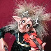 """Куклы и игрушки ручной работы. Ярмарка Мастеров - ручная работа Норвежский тролль """"Крошка-скрипачка"""". Handmade."""