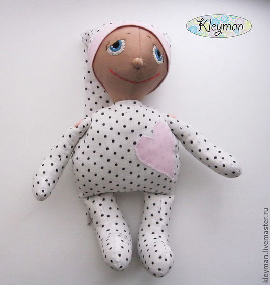 Человечки ручной работы. Ярмарка Мастеров - ручная работа. Купить Текстильная кукла Петя. Handmade. Кукла интерьерная, в пижаме, валентин
