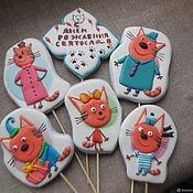 Сувениры и подарки handmade. Livemaster - original item Gingerbread painted.Gingerbread cartoon characters.. Handmade.
