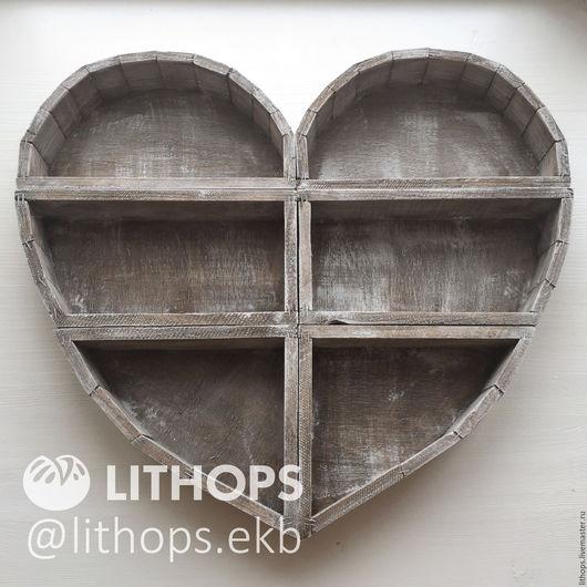 """Кашпо ручной работы. Ярмарка Мастеров - ручная работа. Купить Кашпо """"Сборное сердце"""". Handmade. Сердце, литопс, дерево"""