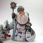 Подарки к праздникам handmade. Livemaster - original item Santa Claus carved with a stick. Handmade.