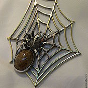 Украшения ручной работы. Ярмарка Мастеров - ручная работа кулон с пауком. Handmade.