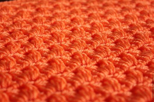"""Текстиль, ковры ручной работы. Ярмарка Мастеров - ручная работа. Купить Детский плед """"Оранжевое чудо"""". Handmade. Оранжевый"""