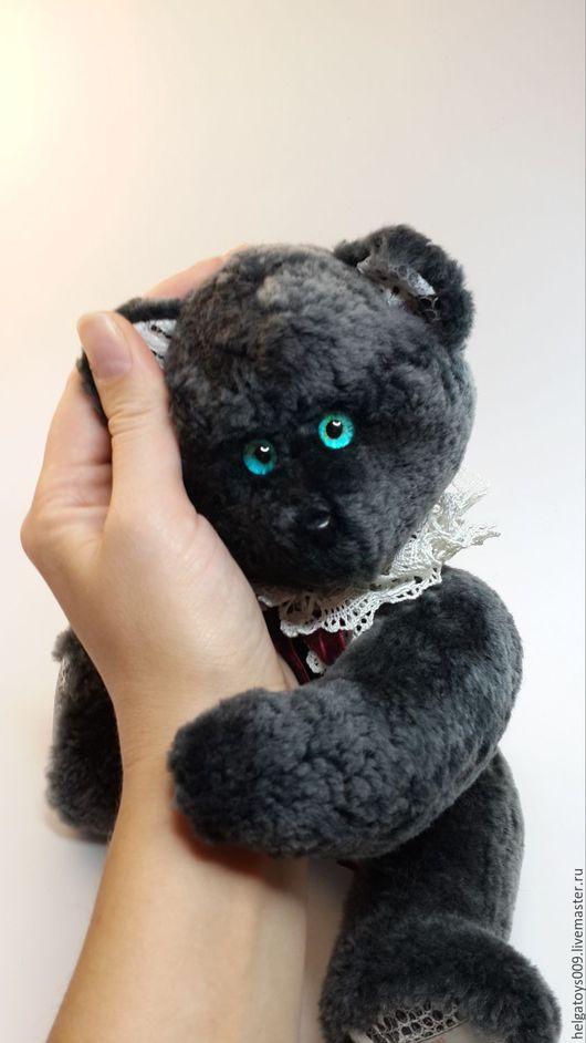 """Мишки Тедди ручной работы. Ярмарка Мастеров - ручная работа. Купить Мишка """"Ретро"""" из меха. Handmade. Темно-серый, медведь"""