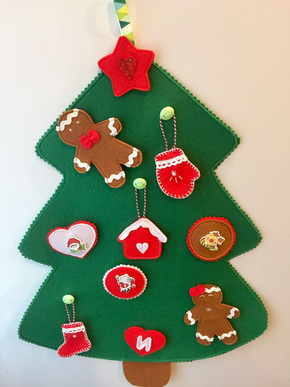Christmas tree with different clasps made of felt, Stuffed Toys, Krasnoyarsk,  Фото №1