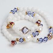 Украшения handmade. Livemaster - original item Triple bracelet-beads Lilac Dormouse. Handmade.