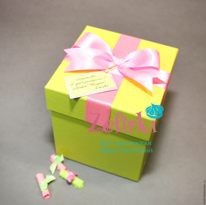 Подарок в коробочках пожелания 679