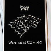 "Картины и панно handmade. Livemaster - original item Picture with crystals ""Home of Starks"". Handmade."