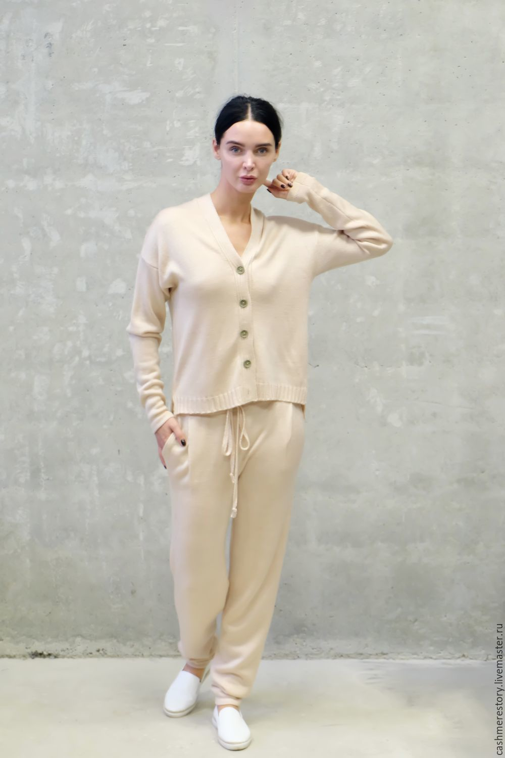 Women's suit knitted Beige naturelle, Suits, Moscow,  Фото №1