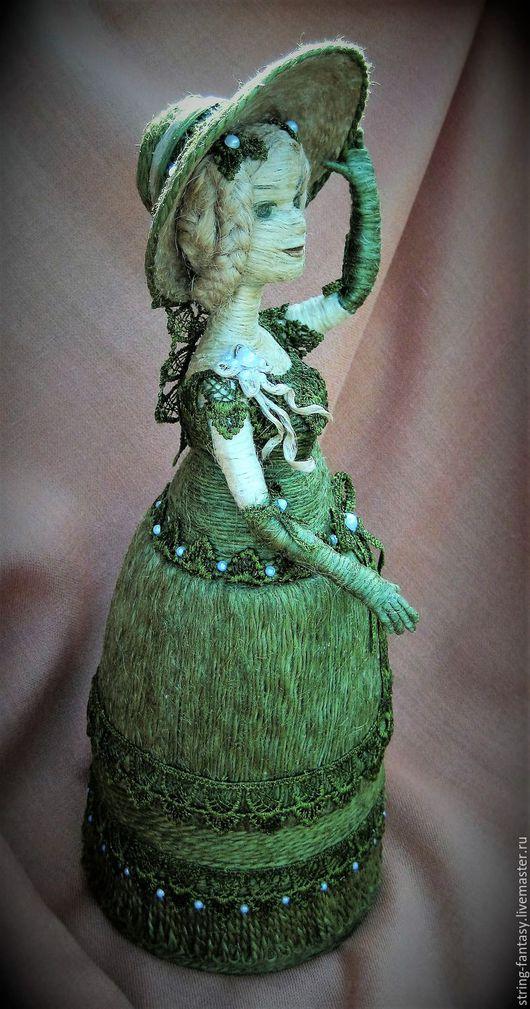 Статуэтки ручной работы. Ярмарка Мастеров - ручная работа. Купить Шпагатная кукла-шкатулка. Handmade. Оливковый, органайзер