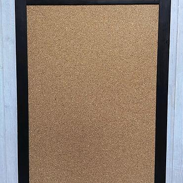 Для дома и интерьера ручной работы. Ярмарка Мастеров - ручная работа Пробковая доска 60х90 с круглым верхом. Handmade.