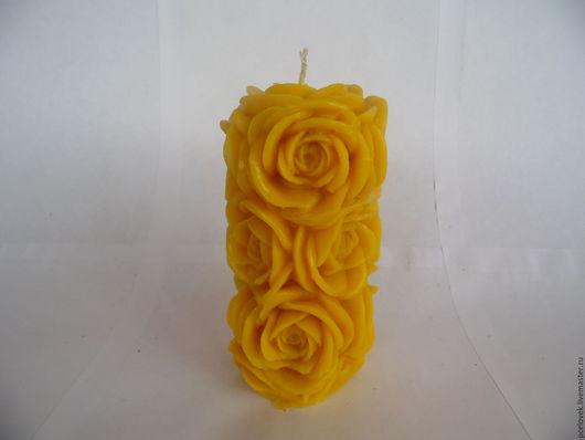 Свечи ручной работы. Ярмарка Мастеров - ручная работа. Купить свеча РОЗЫ. Handmade. Роза, подарок женщине, подарок девушке