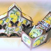 """Для дома и интерьера ручной работы. Ярмарка Мастеров - ручная работа """"Лимончелло""""(чайная вилла и коробочка для специй). Handmade."""