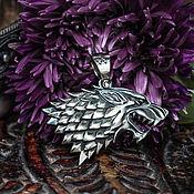 Украшения handmade. Livemaster - original item House Stark Direwolf Pendant. Game of thrones. brass Nickel silver. Handmade.