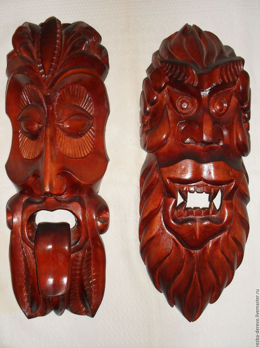 Интерьерные  маски ручной работы. Ярмарка Мастеров - ручная работа. Купить Настенные  маски. Handmade. Коричневый, подарок на новый год