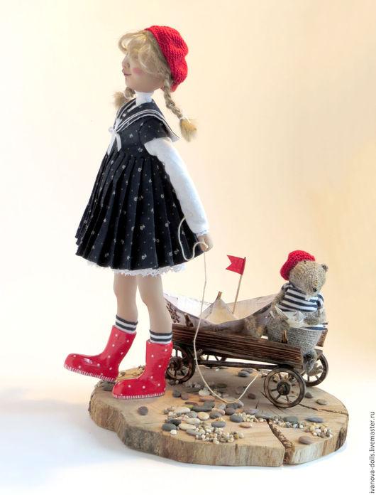 Коллекционные куклы ручной работы. Ярмарка Мастеров - ручная работа. Купить Авторская кукла. Море зовет.. Handmade. Комбинированный, матроска