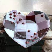 """Посуда ручной работы. Ярмарка Мастеров - ручная работа Тарелка """"Сердечко"""" фьюзинг. Handmade."""