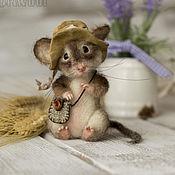 Куклы и игрушки ручной работы. Ярмарка Мастеров - ручная работа Мышонок в шляпе.. Handmade.