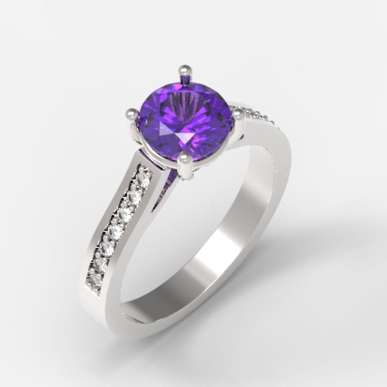 Кольцо с аметистом и бриллиантами – заказать на Ярмарке Мастеров – NB3ZYRU | Кольцо помолвочное, Кубинка