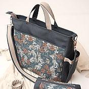 "Большая сумка для мамы Dailylike ""Пальмы"""