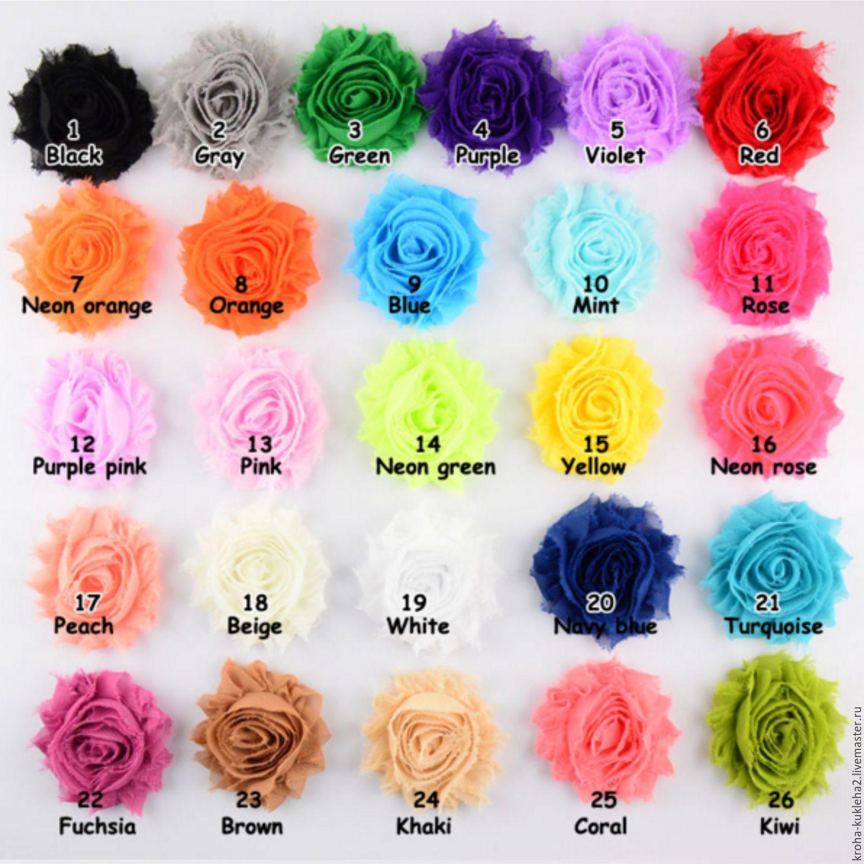Шифоновые цветы мастер класс инструкция #2